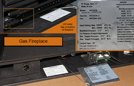 Gas Fireplace Serial Number Locations